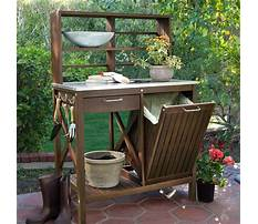 Wooden potting bench by leisure Plan