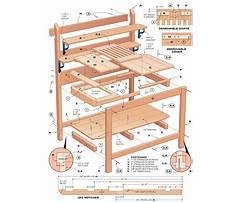 Wooden potting bench plans Plan