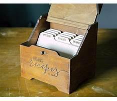 Wooden recipe box dividers Plan