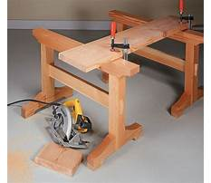 Wooden sawhorse trestle Plan