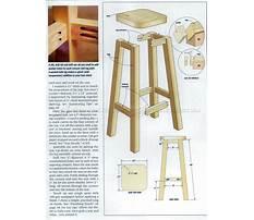 Wooden short stool Plan