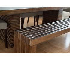 Wooden slat bench Plan