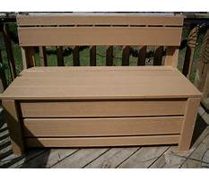 Wooden storage bench plans Plan
