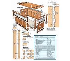 Wooden storage trunk Plan