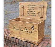 Wooden toy box with lid Plan