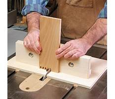 Woodworking box joint Plan