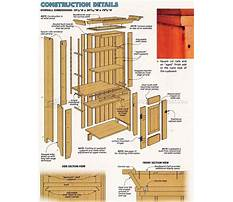 Woodworking ideas gun cabinet Plan