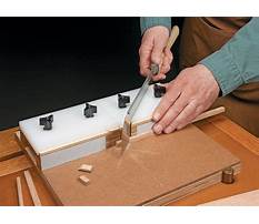 Woodworking mitre box Plan