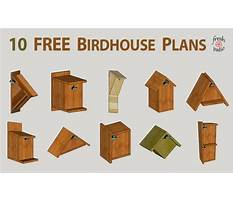 Woodworking plans for a birdhouse Plan