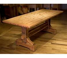 Woodworking plans for rustic dining table Plan