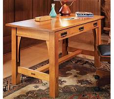 Woodworking plans library table Plan