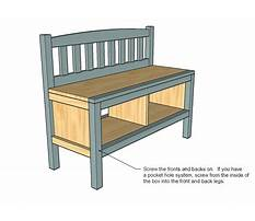Woodworking plans storage bench Plan