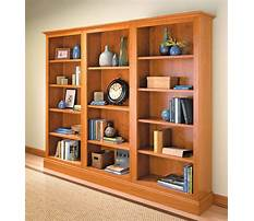Woodworking plans wall bookcase Plan
