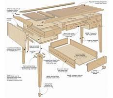 Woodworking simple desk Plan