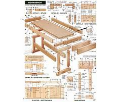 Workshop bench plans Plan