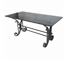 Wrought iron end table legs for sale Plan
