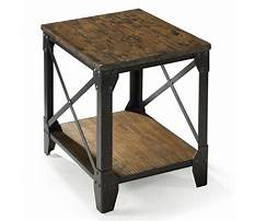 Wrought iron end table legs Plan