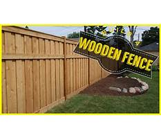 Youtube how to build a wood fence Plan